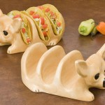 Chihuahua Taco Holder Plates