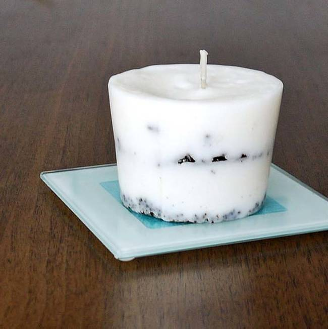 Whip up a homemade coffee candle.