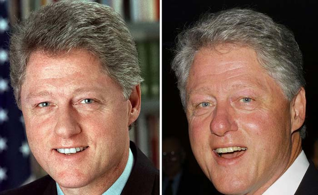 Bill Clinton: 1993 and 2001.