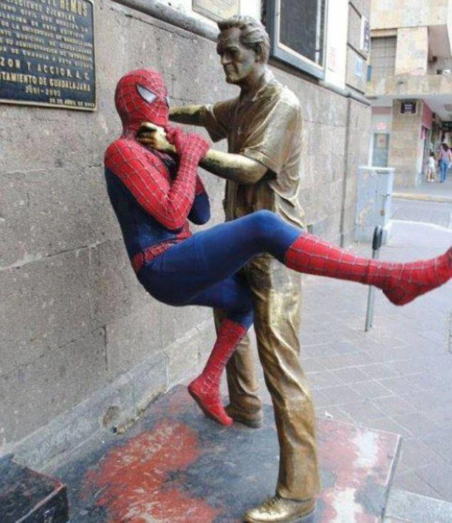 Poor Spidey never stood a chance.