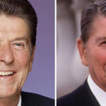 Ronald Reagan: 1981 and 1989.