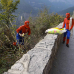 They wear these outfits so that they can be more easily spotted on the hillside.