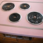 The burners on the electric stove also came with little silver caps for when they weren
