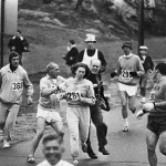 Women were not allowed to run the Boston Marathon in 1967. Kathrine Switzer dodged that rule, and became the first woman to finish despite organizers trying to stop her.