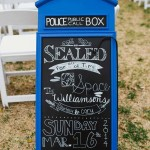 Make a <i>Dr. Who</i> tardis chalkboard for notes and forget-me-nots.