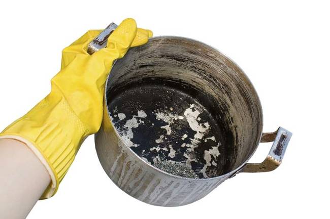 Use coffee grounds to scour pots and pans.