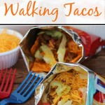 Make portable tacos in lunch-sized bags of Fritos or Doritos, also known as