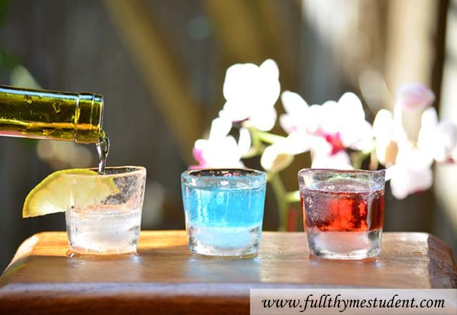 Make ice shot glasses for perfectly chilled liquor.