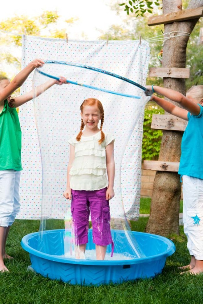 Keep kids entertained with a giant bubble station.