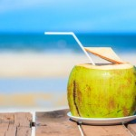 Coconut water still in the husk can be a substitute for saline if you need to get someone an IV, stat.