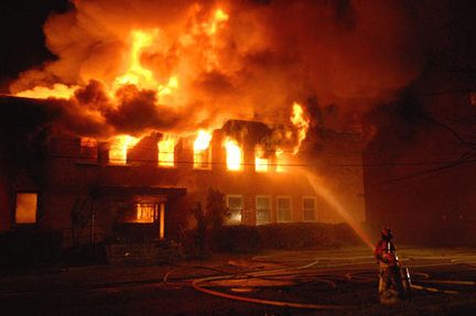 The #1 cause of death in household fires is the smoke and not the fire. Keep low to the ground.
