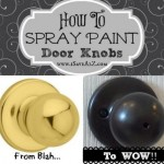"The doorknobs that come with newer houses are terrible...<a href=""http://www.isavea2z.com/spray-paint-door-knobs/"" target=""_blank"">here"
