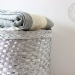 """Wicker baskets <a href=""""http://www.twodelighted.com/2013/01/glossy-baskets-before-and-after/#.VikhMmSrTZu"""" target=""""_blank"""">don"""
