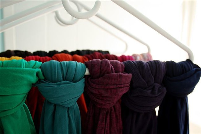 Hang your scarves on hangers to keep them out of the way.