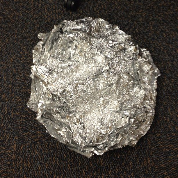 Crumple up some tinfoil and use it as a scrubber for extra-dirty pots and pans.