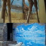 Giraffe and Polar Bear in Captivity papersnack.com