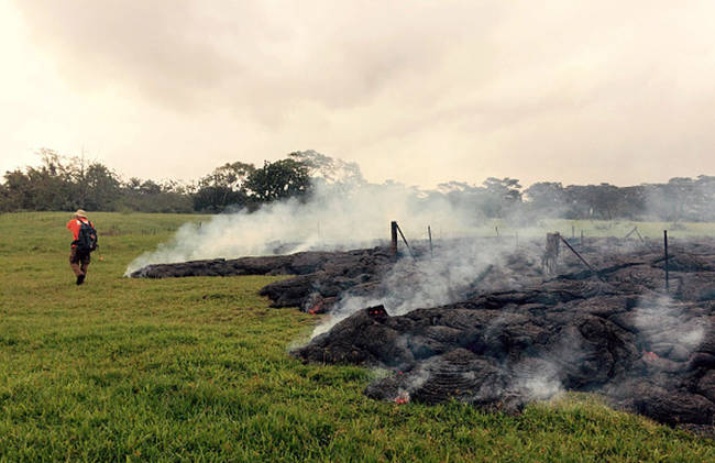 Scientists from the Hawaiian Volcano Observatory have been carefully observing the flow since it began over the summer.
