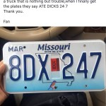 Ate dicks license plate pepersnack.com