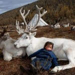 Nothern Mongolian children sure know how to relax.