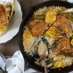 baked-risotto-with-chicken-Thighs-Lemon-and-scallions