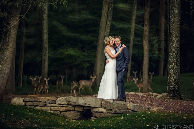 When photographer (and brother of the groom) Ian Christmann noticed some wild guests entreating upon the outskirts of a wedding last week, he immediately grabbed the happy couple to see if they could get photos with the super nervous wedding crashers. But what he didn