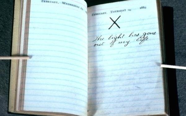 A moving diary entry by Teddy Roosevelt marking the day both his mother and his wife passed away.