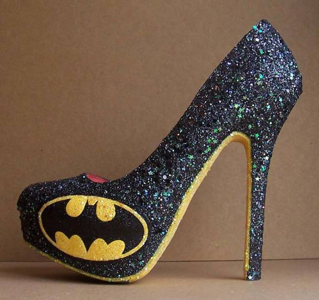For the most glamorous of <i>Batman</i> fans, these homemade high heels are perfect.