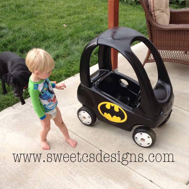 Your toddler will love this Bat Mobile toy car. See the step-by-step instructions <a href=