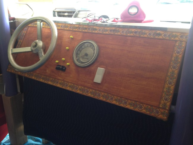 Then he got to work on the interior, making this awesome dashboard.