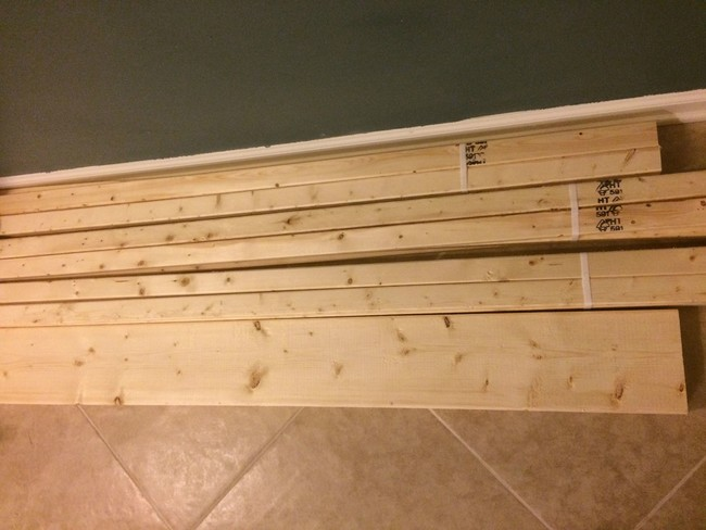 To put his plan into action, he went out and bought some plywood.