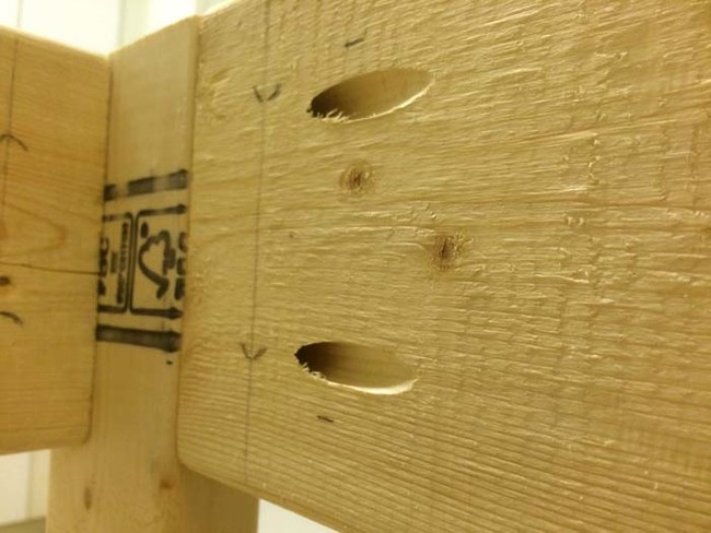 Using a pocket hole jig to connect the corners.