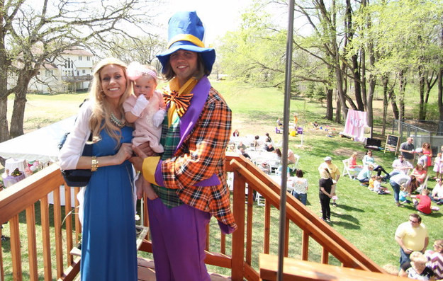 The party, which saw some 300 people in attendance, was <i>Alice in Wonderland</i>-themed, with Ben playing the part of the Mad Hatter.