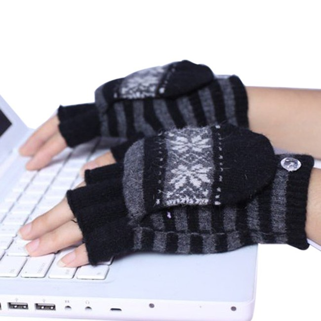 "If your office is reminiscent of an Arctic tundra, these <a href=""http://www.amazon.com/Eforstore-Laptop-Gloves-Heated-Mittens/dp/B00SFCSP7U/?_encoding=UTF8&tag=vira0d-20"" target=""_blank"">USB mittens</a> will make typing a little more bearable for your coworker with the blanket draped over his shoulders."