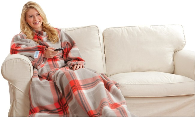 "It's hard to go wrong with a <a href=""http://www.amazon.com/Snuggie-Red-Plaid-Blanket/dp/B00OM8E50M/?_encoding=UTF8&tag=vira0d-20"" target=""_blank"">Snuggie</a>, though."