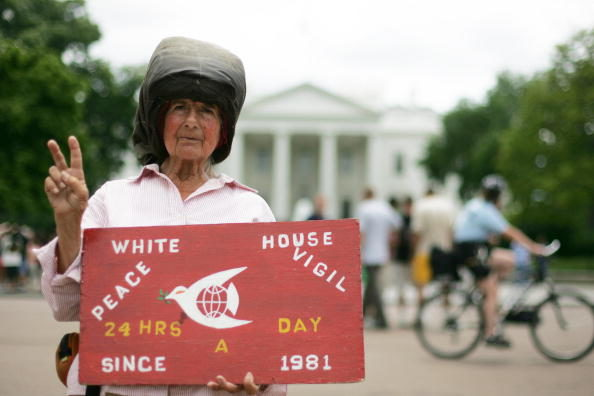 "When asked why she protested for almost 4 decades, her response was simple: ""Because people do nothing. If people would be more concerned, I wouldn't have to be here."""